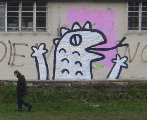 REPTILIANS graffiti street art zurich switzerland. THEY LIVE WE SLEEP
