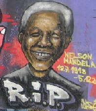 NELSON MANDELA GRAFFITI ZURICH SWITZERLAND