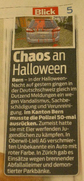 halloween chaos in zurich switzerland halloween 2013