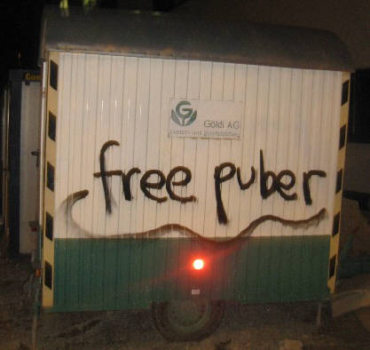 FREE PUBER. PUBER GRAFFITI SPRAYER IN WIEN VERHAFTET ZÜRCHER SPRAYER  PUBER NUMBER ONE SOLI GRAFFITI TAG FÜR PUBER ZÜRICH MÄRZ 2014