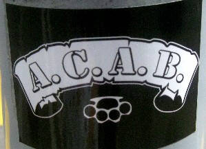 ACAB A.C.A.B. all cops are bastards