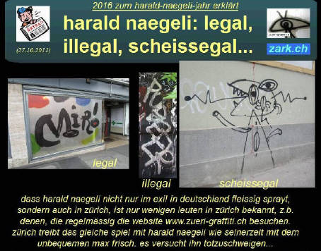 HARALD NAEGELI legal illegal scheissegal grosser bildreport