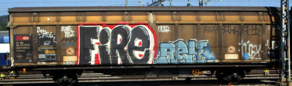 fire rek freight graffiti