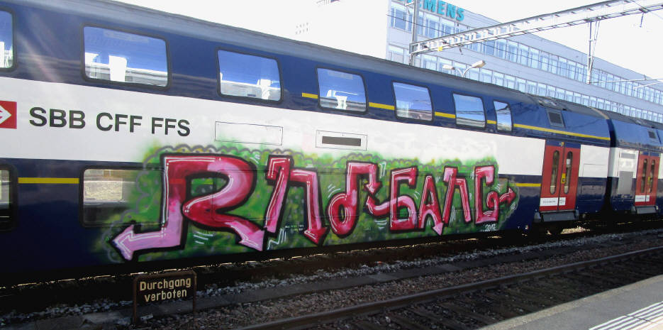 RND gang graffiti train Sbahn SBB