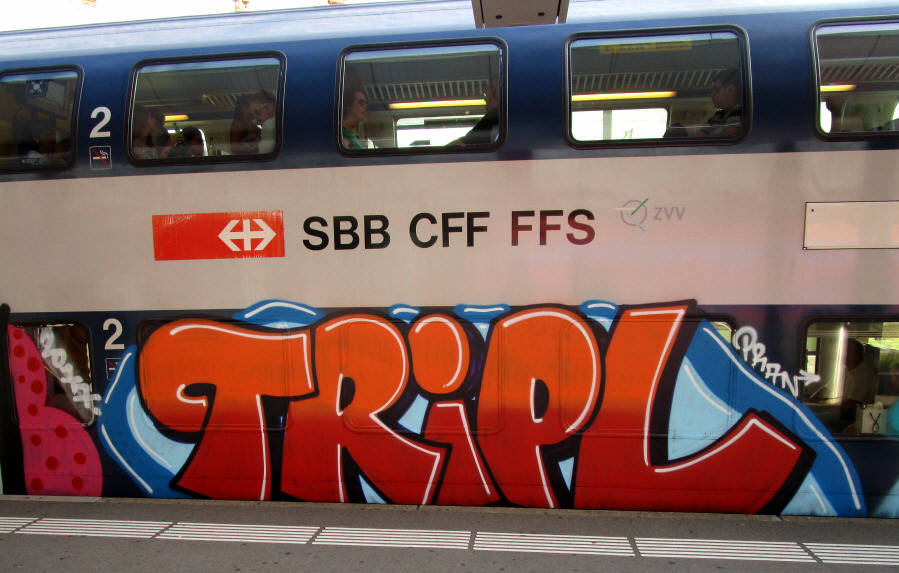 TRIPL  S-Bahn Train Graffiti Zürich