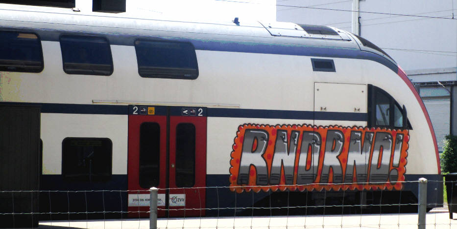 RND S-Bahn Train Graffiti Zürich