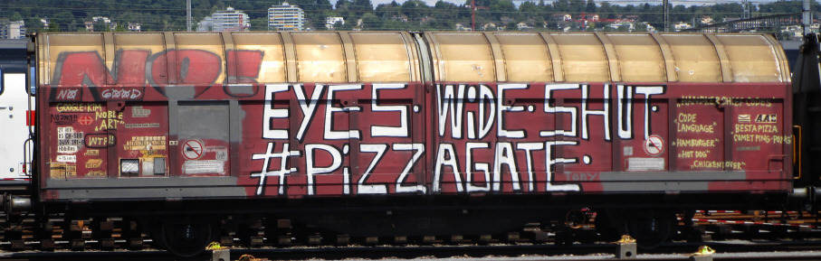 PIZZAGATE SBB-güterwagen graffiti zürich cargo train graffiti freights AFTER  IT WAS CENSORED