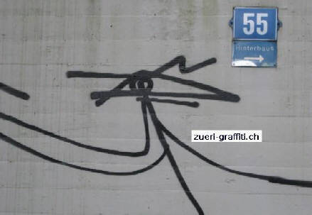 Harald Naegeli graffiti. The founder of European graffiti art