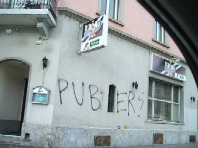 PUBER graffiti tag writer zurich switzerland 2008