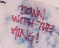 Down with the King.