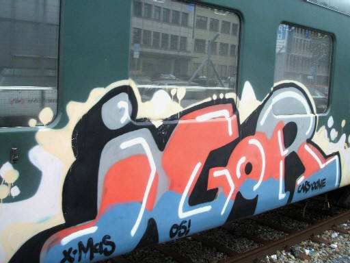 IGOR graffiti train whole car zürich