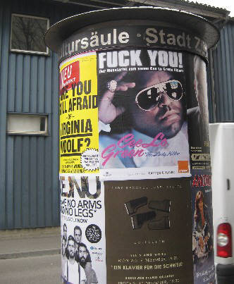 CEE LO GREEN Fuck You. Zurich, November 2010