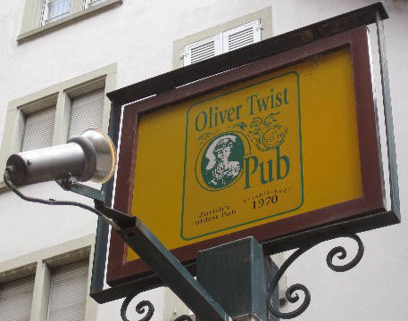 OLIVER TWIST PUB ZURICH SWITZERLAND. oliver twist ist zurich's first pub. it openee in 1970