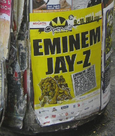 EMINEM and JAY Z in concert at open-air frauenfeld switzerlalnd, july 9-11, 2010
