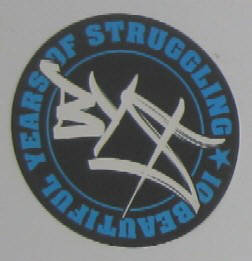 BYS Aufkleber Sticker 10 beautiful years of struggling. BYS number one graffiti crew in zurich switzerlland
