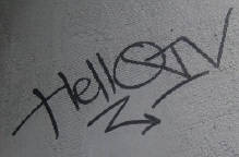 HELLO IV graffiti tag zürich