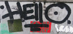 HELLO graffiti tag zürich